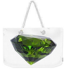 Weekender Tote Bag featuring the jewelry Great Emerald Isolated by Atiketta Sangasaeng