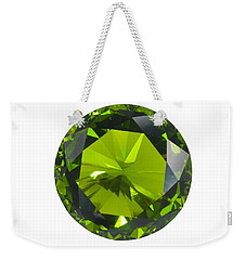 Weekender Tote Bag featuring the jewelry Green Gem Isolated by Atiketta Sangasaeng