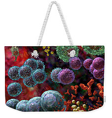 Weekender Tote Bag featuring the photograph Immune Response Antibody 4 by Russell Kightley