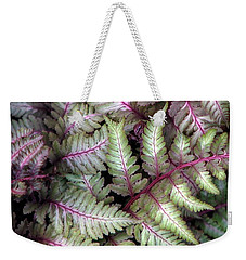 Japanese Painted Fern Weekender Tote Bag by Chris Anderson