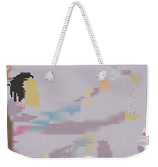 Weekender Tote Bag featuring the painting Kundalini Reveals Dna by Kevin McLaughlin