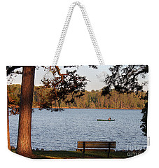 Weekender Tote Bag featuring the photograph Lakeside by Todd Blanchard
