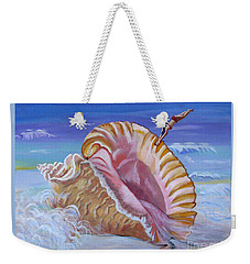 Magic Conch Shell Weekender Tote Bag by Phyllis Kaltenbach