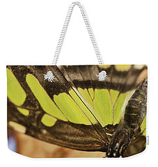 Malachite Butterfly Weekender Tote Bag