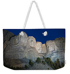 Mount Rushmore Nightfall Weekender Tote Bag by Steve Gadomski