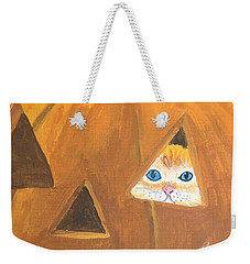 Weekender Tote Bag featuring the painting Peekaboo by Norm Starks