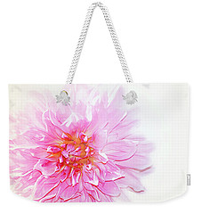 Weekender Tote Bag featuring the photograph Pink by Elaine Manley