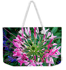 Weekender Tote Bag featuring the photograph Pink Flower by Stephanie Moore