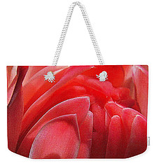 Pink Torch Ginger Weekender Tote Bag by Jocelyn Kahawai