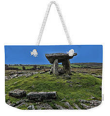 Weekender Tote Bag featuring the photograph Poulnabrone Dolmen by David Gleeson