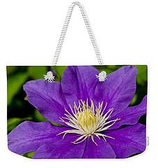 Purple Clematis Flower Weekender Tote Bag