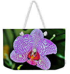 Weekender Tote Bag featuring the photograph Purple Orchid by Sherman Perry