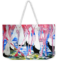 Rift Valley Flamingo Feeding Weekender Tote Bag