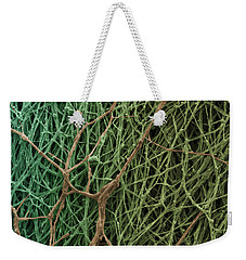 Sem Of Mycelium On Mushrooms Weekender Tote Bag by Ted Kinsman