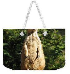 Sentinel Meerkat Weekender Tote Bag by Carla Parris