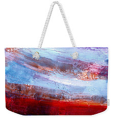 Weekender Tote Bag featuring the mixed media Sunset Sky by Walter Fahmy