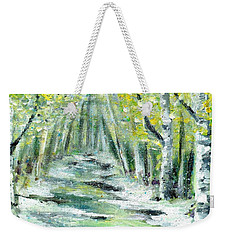 Weekender Tote Bag featuring the painting Spring by Shana Rowe Jackson
