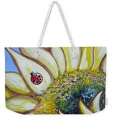 Sunflower And Ladybug Weekender Tote Bag