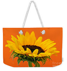 Sunflower Closeup Weekender Tote Bag by Elena Elisseeva