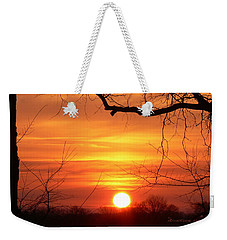 Weekender Tote Bag featuring the photograph Sunrise In Tennessee by EricaMaxine  Price