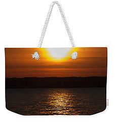 Weekender Tote Bag featuring the photograph Sunrise On Seneca Lake by William Norton
