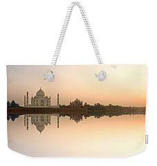 Weekender Tote Bag featuring the photograph Taj Mahal  by Luciano Mortula