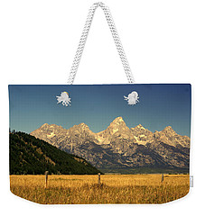 Weekender Tote Bag featuring the photograph Tetons 3 by Marty Koch