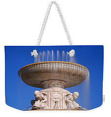 Weekender Tote Bag featuring the photograph The Belle Isle Scott Fountain by Gordon Dean II