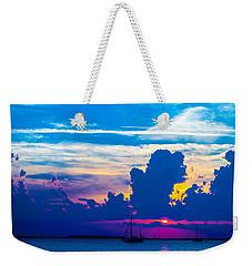 The Purple Sunset Weekender Tote Bag
