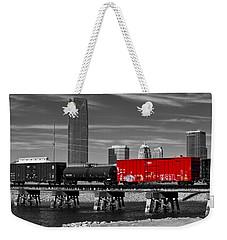 The Red Box Car Weekender Tote Bag by Doug Long