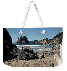 Weekender Tote Bag featuring the photograph Trinidad Beach by Sharon Elliott