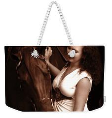 Woman And Horse Weekender Tote Bag