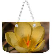 Yellow Crocus Weekender Tote Bag