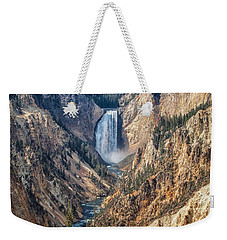 Yellowstone Lower Falls Weekender Tote Bag by Ronald Lutz
