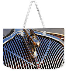 Weekender Tote Bag featuring the photograph 1936 Hudson Terraplane by Gordon Dean II