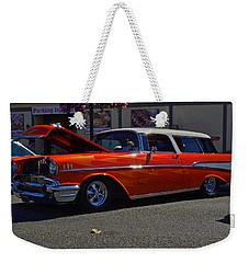 Weekender Tote Bag featuring the photograph 1957 Belair Wagon by Tikvah's Hope