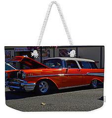 1957 Belair Wagon Weekender Tote Bag by Tikvah's Hope