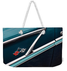 Weekender Tote Bag featuring the photograph 1958 Chevrolet Bel Air by Gordon Dean II