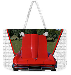 Weekender Tote Bag featuring the photograph 1965 Corvette by EricaMaxine  Price