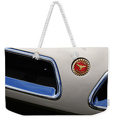 Weekender Tote Bag featuring the photograph 1966 Bizzarini 5300 Spyder by Gordon Dean II