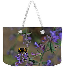 Weekender Tote Bag featuring the photograph Bee by David Gleeson