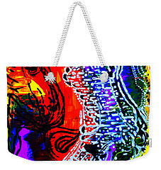Weekender Tote Bag featuring the painting Dinka Bride by Gloria Ssali