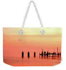 Weekender Tote Bag featuring the photograph Eery Morn by Clayton Bruster