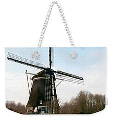 Weekender Tote Bag featuring the digital art Windmill In Amsterdam by Carol Ailles