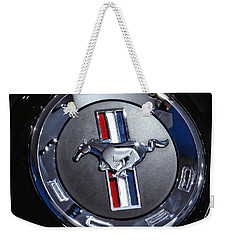 2012 Ford Mustang Trunk Emblem Weekender Tote Bag