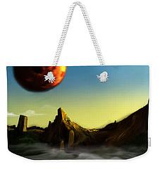 Weekender Tote Bag featuring the digital art No Title  by Mariusz Zawadzki