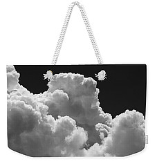 Black And White Sky With Building Storm Clouds Fine Art Print Weekender Tote Bag