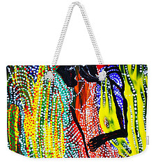 Weekender Tote Bag featuring the painting Jesus And Mary by Gloria Ssali