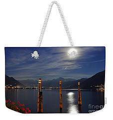 Moon Light Over An Alpine Lake Weekender Tote Bag