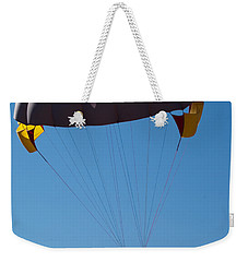 Weekender Tote Bag featuring the photograph 3 People Para-sailing Pachmarhi by Ashish Agarwal
